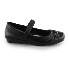 CLAIRE Ladies Touch Fasten Shoes Black