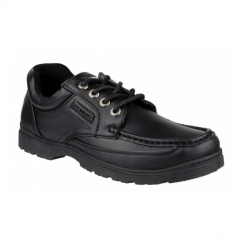 STUBBY Boys Lace Up Smart School Shoes Black