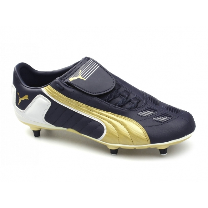 Puma V-Kon II L SG Mens Football Boots Navy/Gold/White
