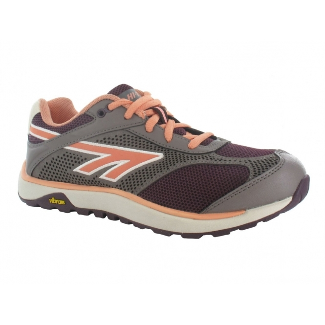 Hi-Tec V-LITE NAZKA 5.0 Ladies Trail Running Trainers Wine/Peach/Stone