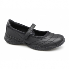 VELOCITY POUTY Girls School Shoes Black