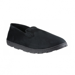 VINCE Mens Full Slippers Black