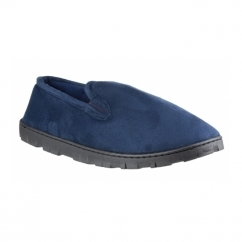 VINCE Mens Full Slippers Navy