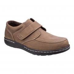 Hush Puppies VINCE VICTORY Mens Touch Fastening Shoes Brown