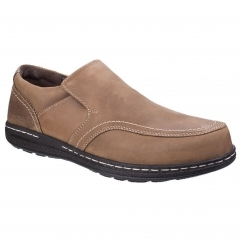 Hush Puppies VINDO VICTORY Mens Slip On Shoes Brown
