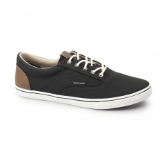 VISION Mens Canvas Trainers Anthracite