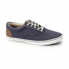 VISION Mens Canvas Trainers Navy Blazer