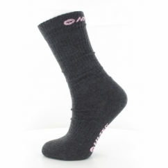 WALKER LIGHTWEIGHT Ladies Socks 2 Pairs Charcoal/Pink