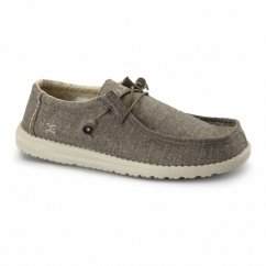 WALLY LINEN Mens Relaxed Fit Shoes Rope