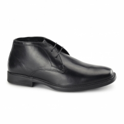 WEXFORD Mens Leather Chukka Boots Black