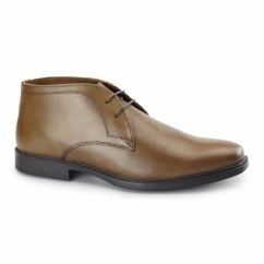 WEXFORD Mens Leather Chukka Boots Tan
