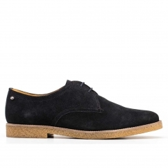 Base London WHITLOCK Mens Suede Lace Up Shoes Navy