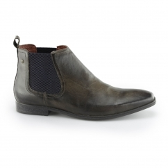 Base London WILLIAM Mens Leather Pointed Chelsea Boots Cocoa