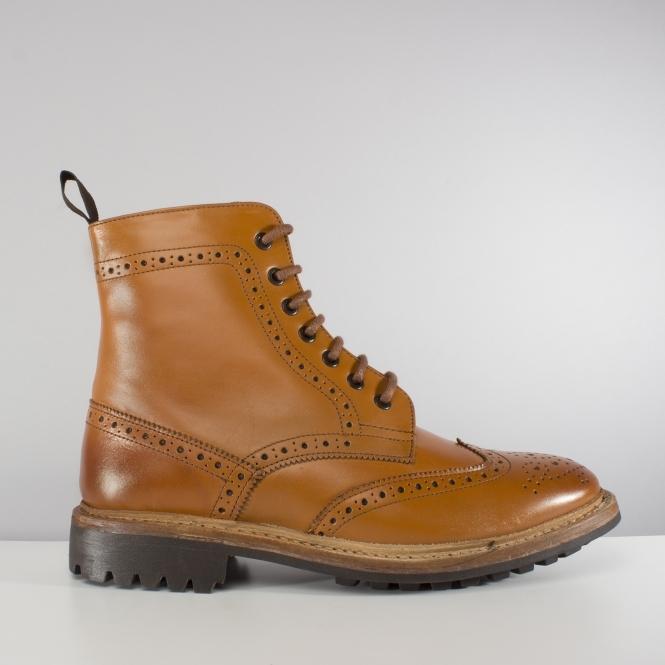b5100e8d7d2d3 Catesby Shoemakers WINDSOR Mens Derby Boots Tan