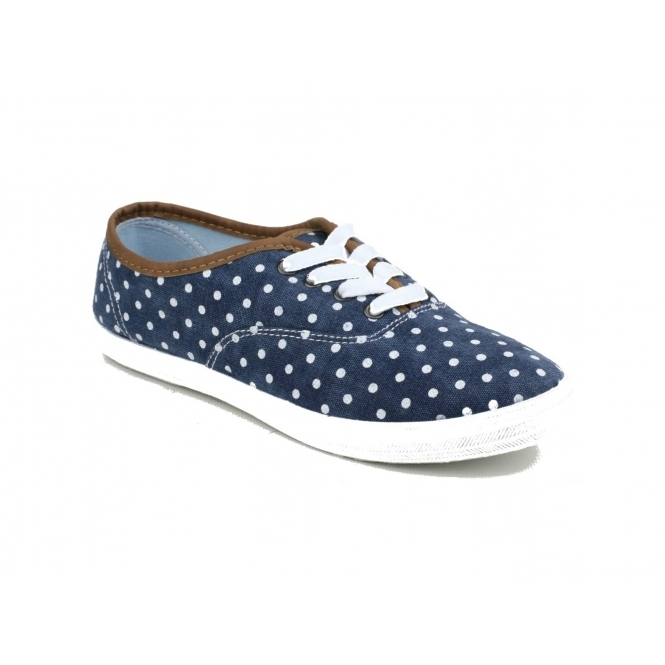 Divaz WINSLET Ladies Canvas Trainers Navy