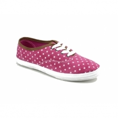 WINSLET Ladies Canvas Trainers Pink