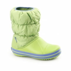 WINTER PUFF BOOT Kids Snow Boots Lime/Sea Blue
