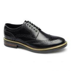 Base London WOBURN Hi-Shine Brogues Black