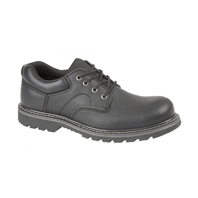 Woodland IAN Mens Leather Goodyear Welted Utility Shoes Black