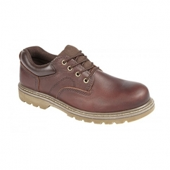IAN Mens Leather Goodyear Welted Utility Shoes Dark Brown