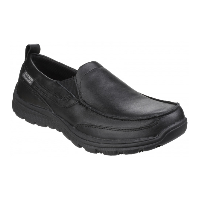 Skechers WORK: RELAXED FIT - HOBBES SR Mens Shoes Black