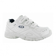 XT115 EZ Junior Touch Fasten School Trainers White/Navy