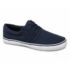 YACHT Boys Canvas Lace Up Shoes Navy