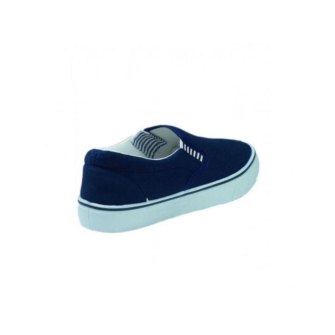 Mirak YACHTMASTER Mens Canvas Deck Shoes Navy