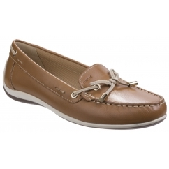 GEOX YUKI Womens Leather Casual Loafers Biscui