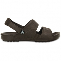 YUKON Mens Two Strap Mule Sandals Mahogany