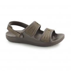 Crocs YUKON MESA SANDALS Mens Croslite/Leather Sandals Espresso/Espresso | Shuperb