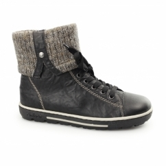 Z8753-00 Ladies Warm Lined Winter Boots Black