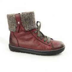 Z8753-35 Ladies Warm Lined Winter Boots Wine