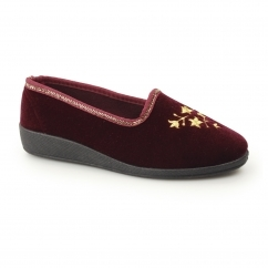 FAY II Ladies Full Slippers Wine