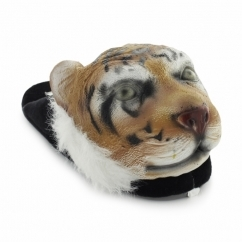 ZUFFA Unisex Novelty Tiger Slippers Black